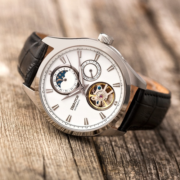 70ea9a5bc Heritor Automatic Accessories   Nwt Automatic Moon Phase Skeleton ...